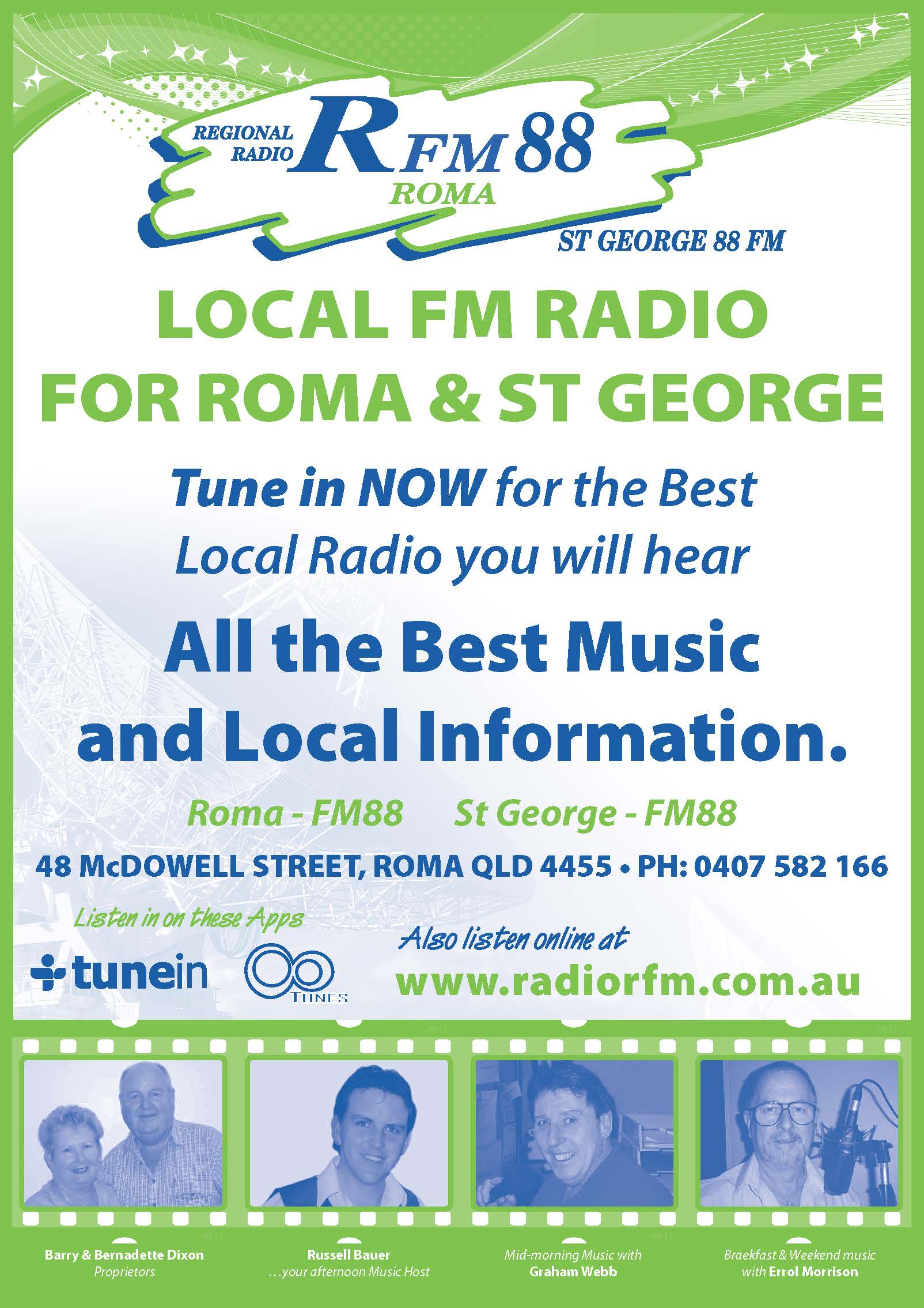 Radio Information Sheet